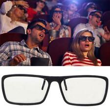 Clip-On Type Circular Passive Polarized 3D Glasses For TV Real Cinema 0.22mm
