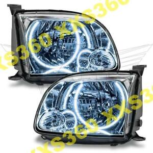 ORACLE Halo 2x HEADLIGHTS for Toyota Tundra DOUBLE CAB 05-06 WHITE LED Angel Eye