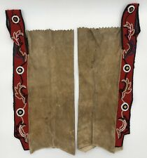 Old Native American Beaded Hide Leggings