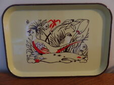 Ingram-Richardson Beaver Falls PA Mid-Century Enameled Steel Tray Grouse Pheasan