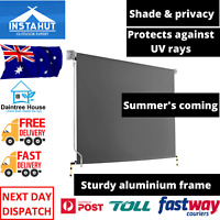 Instahut 3m x 2.5m Outdoor Shade Roll Down Sun Retractable Blind Awning Canopy