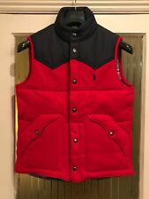 Mens Designer Polo Ralph Lauren Body Warmer Gilet Waistcoat Jacket Red Navy Blue