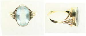 Ring, Gold 585, With Aquamarine, 4,6g, Ring Size 57 (50333)