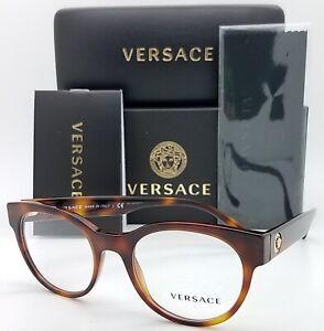 NEW Versace RX Frame Classic Glasses VE3268 5217 49m Havana AUTHENTIC women 3268
