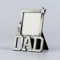 Silver Dad Photo Frame For Christmas Commemorative Gift & Home Decoration Crafts