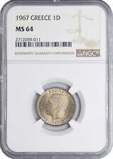 1967 MS65 Greece Drachma UNC NGC KM# 89