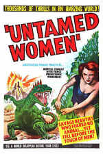 1952 UNTAMED WOMEN VINTAGE MOVIE POSTER PRINT 54x36 BIG