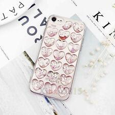 3D Cute Love Bling Dynamic Liquid Glitter Soft Case Cover for iPhone 6 6s 7 Plus