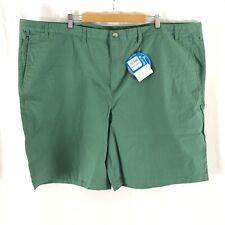 Columbia Mens Shorts Omni Shade UPF 30 Cotton Green Size 52x10