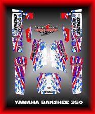 YAMAHA BANSHEE 350 SEMI CUSTOM GRAPHICS KIT USA Pride