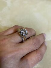 New 18K Filled Silver CZ Wedding Ring Band Size 9 $99.00