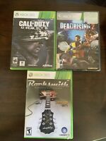 Microsoft Xbox 360 Game Lot 3 Call Of Duty, Rock smith ,Dead Rising 2 Tested