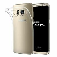 Full Clear Soft Slim Silicon  TPU Gel Rubber Back Case Cover for Samsung S8