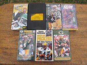 7 Green Bay Packers VHS Tapes NFL Videos Super Bowl Brett Favre