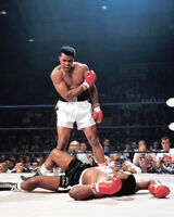 1965 Title Fight MUHAMMAD ALI vs SONNY LISTON Glossy 16x20 Boxing Photo Print