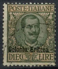 Eritrea 1916 SG#46, 10L Sage-Green And Pale Rose Used #A92371