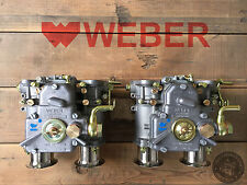 (2x) 40 151 DCOE Weber Carburatore Doppio con clistere imbuto ALFA ROMEO LANCIA ECC.