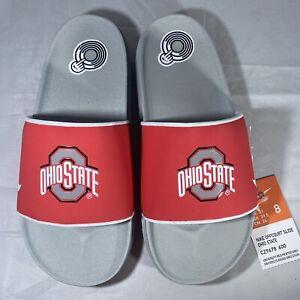 Nike Ohio State Buckeyes Offcourt Benassi Slide Sandals Men's Size 8
