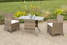 MX Gartenmöbel Set Treviso 5tlg. PolyRattan Balkonmöbel Terrassenmöbel Esstisch