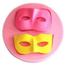 3D Halloween Ball Mask Fondant Mold Silicone Cake Decorating Mould DIY Bakeware