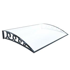 Pensilina tettoia modulabile policarbonato trasparente alveolare porta finestre