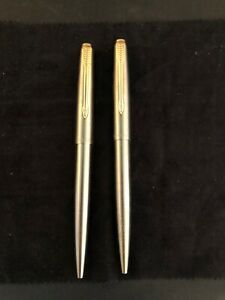 2 NEW Vintage Stainless GT PARKER 61 INTERNATIONAL Ballpoint Made In USA