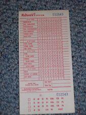 McDonald's Vintage Order Menu @ 1968