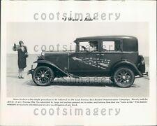 1930 Vintage Pontiac Big Six Auto Press Photo