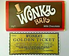 Willy Wonka Bars Milk Chocolate With A Free Golden Ticket 50g From £2.20 Each