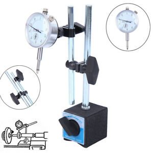 Dial Indicator Test DTI Gauge 0-10mm With Double Pole Magnetic Base Stand