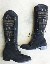 42 Cobra Society Boots Southwest Print with Strap Buckle Black