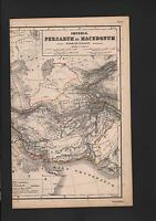 Landkarte map 1869: Imperia PERSARUM et MACEDONUM. Persien Mazedonien