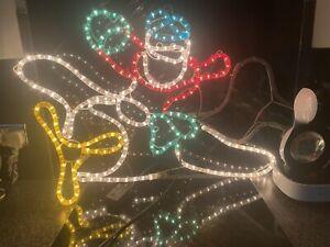 CHRISTMAS Rope Light Aeroplane Santa  Vintage Large Outdoor/Indoor.(1)