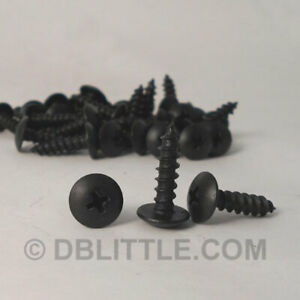 "Carton of 5000 #10 x 1"" Black Oxide Phillips Truss Head Self Tapping Screws"
