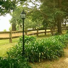 NEW GLASS VICTORIAN GARDEN LAMP POST DRIVEWAY POOL PATH DECK LIGHT Black Outdoor