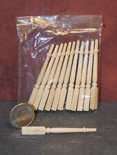 Dollhouse Miniature Wood Balusters Post Set 1:12 inch scale A18 Dollys Gallery