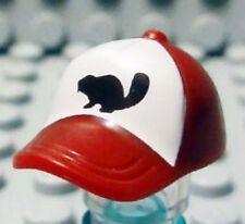 Lego - Minifig, Headgear Cap w/ Seams & Button on Top w/ Black Beaver Pattern