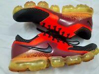 Nike Air Vapormax Flyknit Running Shoes AH9046-800 Crimson Black Men's Size 10