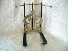 Pair Victorian Cast iron & brass fire rest for fireplace