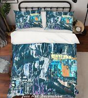3D Abstract Art Graffiti Quilt Cover Set Pillowcases Duvet Cover 3pcs Bedding