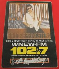 Vintage OTTO Bruce Springsteen 1992 World Tour Satin Cloth Backstage Pass WNEW