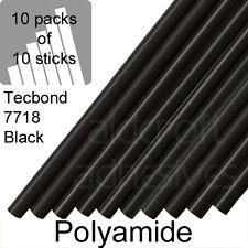 TECBOND 7718 Black Polyamide 12mm, 100 Glue sticks, 10x10 Hot Melt stick packs