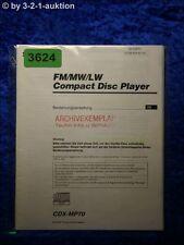 Sony Bedienungsanleitung CDX MP70 CD Player (#3624)