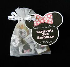 PERSONALIZED MINNIE MOUSE BIRTHDAY PARTY BABY SHOWER PARTY FAVOR GIFT TAG