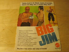 pubblicità advertis 1975 BIG JIM DR STEEL MATTEL