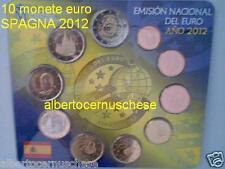 2012 SPAGNA 10 monete euro fdc bu espagne spanien espana spain burgos tye emu
