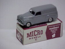 """MODIFIED MICRO MODELS plastic FJ Holden Panel Van (grey)"""" HEARSE """" with coffin"""