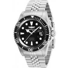Invicta Men's Watch Pro Diver Automatic Black Dial Silver Tone Bracelet 30091