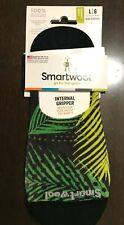 SmartWool No Show Socks Merino Wool PALMS Green  Internal Gripper LARGE $16.95