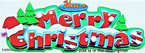 Ek Success JOLEE'S 3-D Autocollants Noël Vacances Saison - Merry Christmas